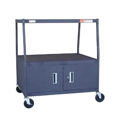"VTI 44"" High TV Cart for 36"" TV Monitor with Cabinet"