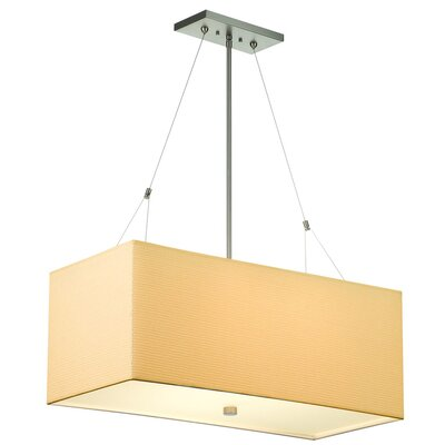 Alexis Organic Modern Pendant with Rectangular Grasscloth Shade