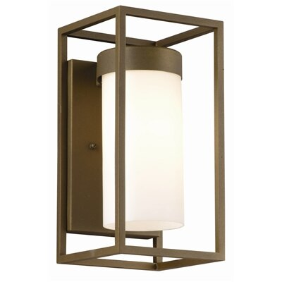 Philips Forecast Lighting Cube  Fluorescent Outdoor Wall Lantern in Bronze TDL