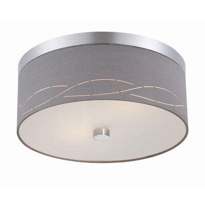 Philips Forecast Lighting Silver Laser 2 Light Flush Mount