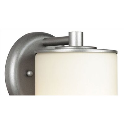 Philips Forecast Lighting Midnight Round Outdoor Wall Sconce in Vista Silver