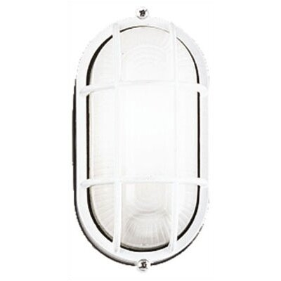 Philips Forecast Lighting Oceanview Oval Outdoor Wall Lantern in White
