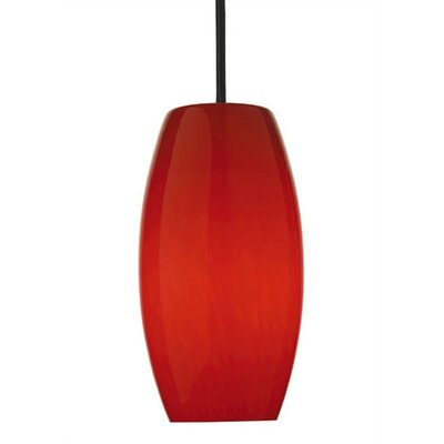 Wishes Pendant Shade in Red Cirrus Glass with Holder Options