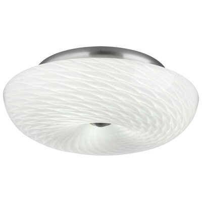 Philips Forecast Lighting Inhale Glass Semi Flush Mount
