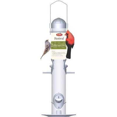 Woodstream Wildbird Festival Feeder in Silver