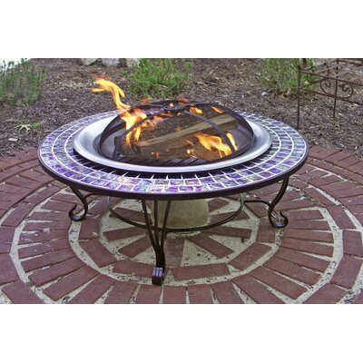 Corral Glass Mosaic Fire Pit Table