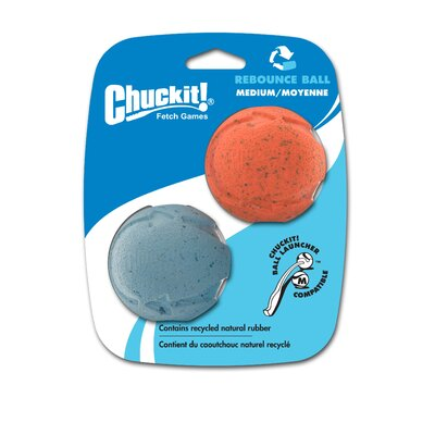 Chuck-It Medium Rebounce Ball Dog Toy (2 pack)