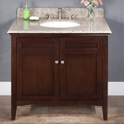 "Lanza Ashford 36"" Vanity Set with Backsplash"