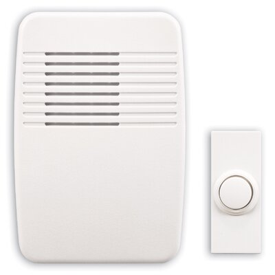 Heath-Zenith Wireless Plug-In Doorbell Kit with White Molded Cover