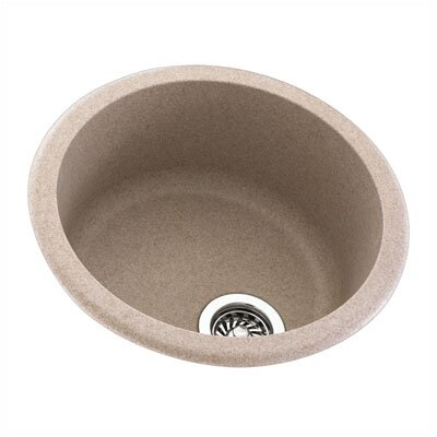 "Swanstone Metropolitan 18.5"" x 18.5"" Round Bowl Kitchen Sink"