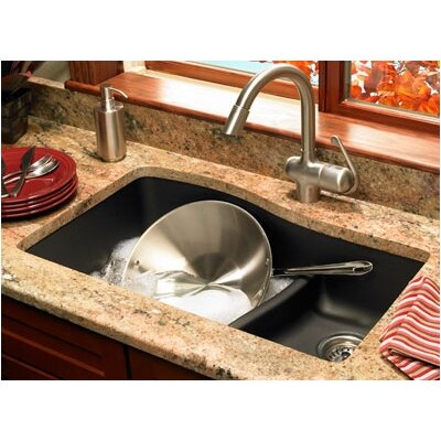 "Swanstone Swanstone Classics 32"" x 21"" Double Bowl Kitchen Sink"