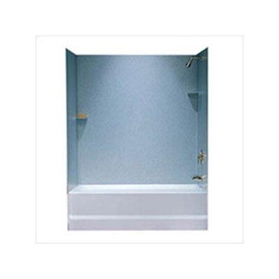 Swanstone Metropolitan Three Panel Bath Tub Wall System and Installation Kit