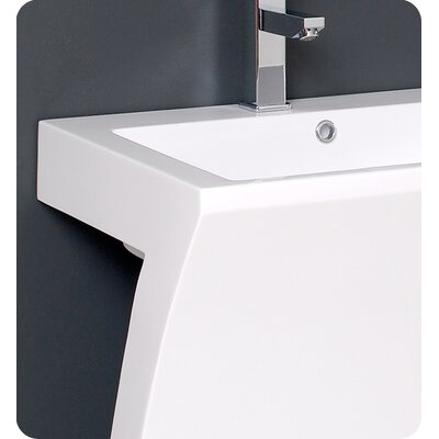 "Fresca Quadro 22.5"" Pedestal Sink Vanity Set with Medicine Cabinet Set"