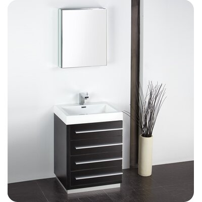 "Fresca Senza 24"" Livello Modern Bathroom Vanity Set with Medicine Cabinet"