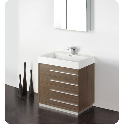 "Fresca Senza 30"" Livello Modern Bathroom Vanity Set with Medicine Cabinet"