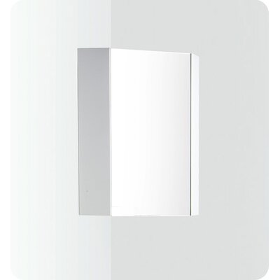 "Fresca Coda 14"" White Corner Medicine Cabinet with Mirror Door"