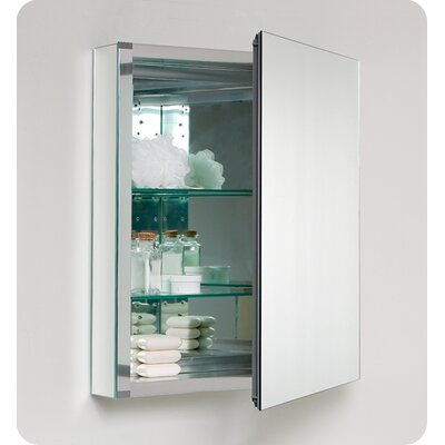 "Fresca 19.88"" x 26.13"" Recessed / Surface Mount Medicine Cabinet"
