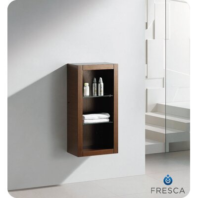 Fresca Bathroom Linen Side Cabinet with 2 Glass Shelves