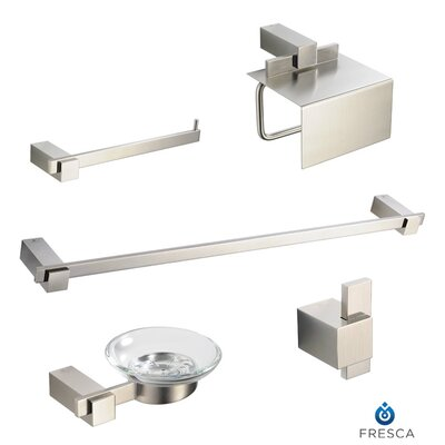 Fresca Ellite 5 Piece Bathroom Accessory Set