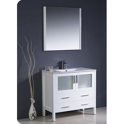 "Fresca Torino 35.8"" Modern Bathroom Vanity Set with Undermount Sink"