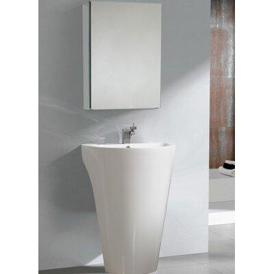 "Fresca Parma 22.5"" Pedestal Sink with Medicine Cabinet - Modern Bathroom Vanity Set"