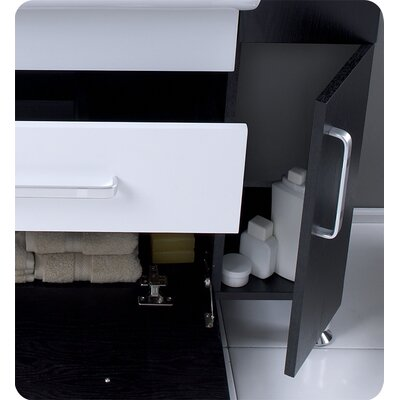 "Fresca Nero Vita 43.25"" Modern Bathroom Vanity Set"