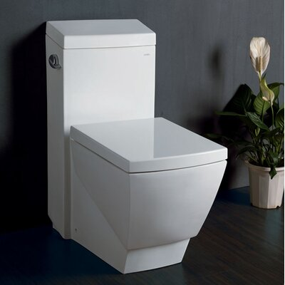 Apus Square 1.6 GPF Elongated 1 Piece Toilet with Soft Close Seat