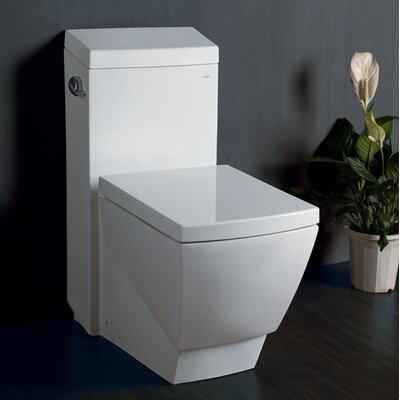 Fresca Apus Square 1.6 GPF Elongated 1 Piece Toilet with Soft Close Seat