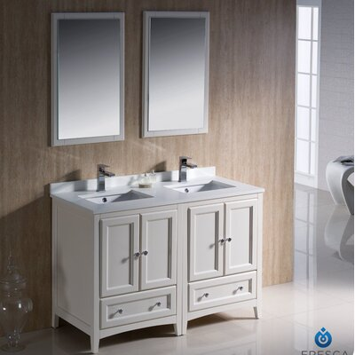 48 inch wood bathroom vanity wayfair - 52 inch bathroom vanity double sink ...