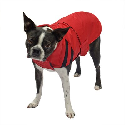Scooter's Friends Inc All-Weather Trench Dog Raincoat in Red