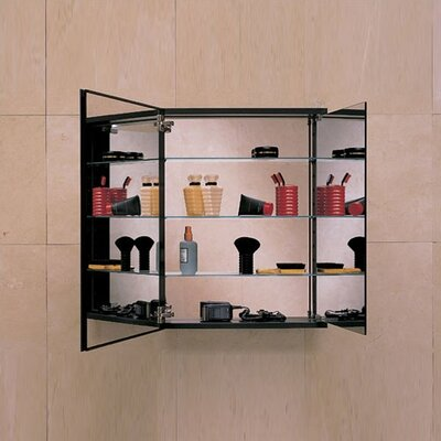 Robern PL Series Flat Tri-view Mirrored Door Cabinet