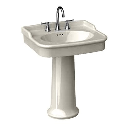 "Porcher New Savina 27"" Pedestal Bathroom Sink"