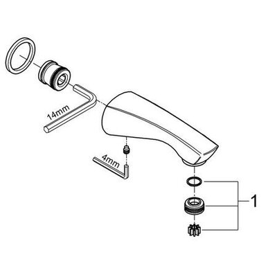 Grohe Arden Wall Mount Tub Spout