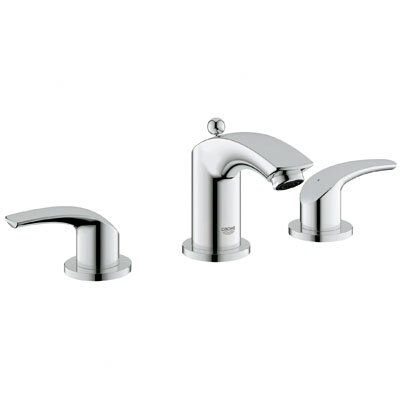 Grohe Eurosmart Widespread Bathroom Faucet with Double Lever Handles