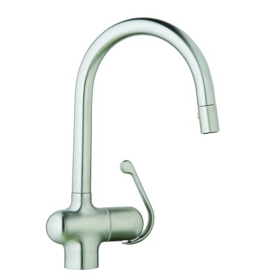 Grohe Ladylux Pro Pull-Down Single Handle Single Hole Kitchen Faucet with Watercare