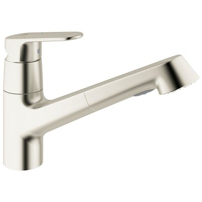 Grohe Europlus Pull-Out Single Handle Single Hole Kitchen Faucet with Watercare
