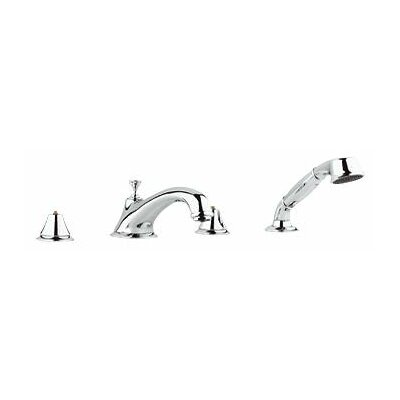 Grohe Seabury Double Handle Roman Thermostatic Tub Faucet With Personal Hand Shower
