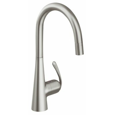 Grohe Ladylux3 One Handle Single Hole Kitchen Sink Faucet with Dual Spray Pull Down and ...