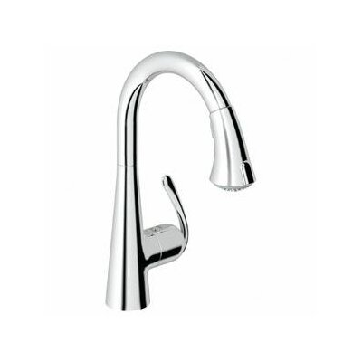Grohe Ladylux3 Eco Friendly One Handle Single Hole Kitchen Faucet with Dual Spray Pull Down ...