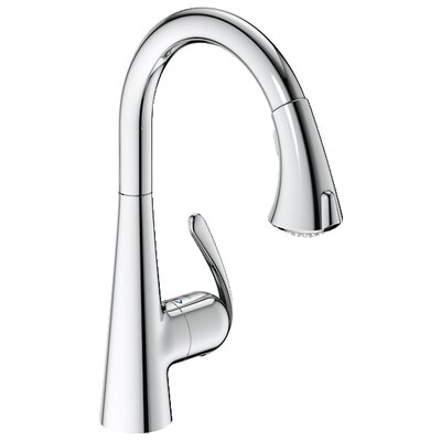Grohe Ladylux3 Eco Friendly One Handle Single Hole Kitchen Faucet with Dual Spray Pull Down