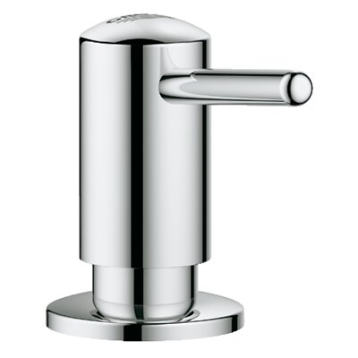 Chrome bathroom soap dispenser wayfair for Porte savon grohe