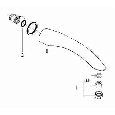 Grohe Talia Wall Mount Tub Spout Trim