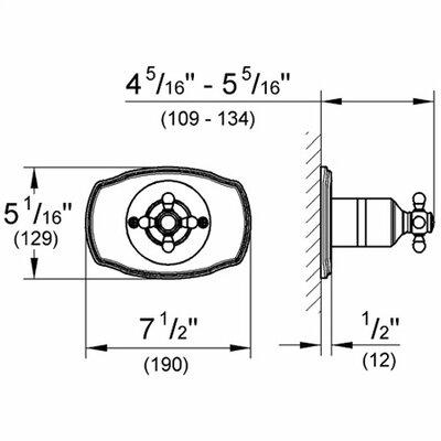 Grohe Geneva Pressure Balance Faucet Shower Faucet Trim Only