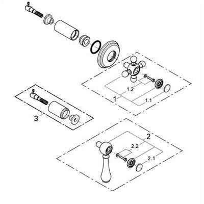 Grohe Geneva Volume Control Faucet Shower Faucet Trim Only