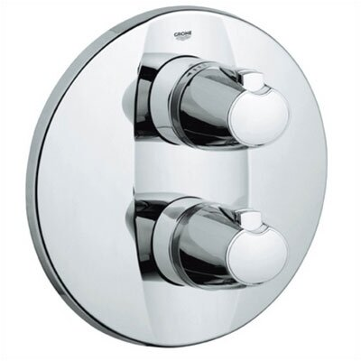 Grohe Grohtherm 3000 Integrated Volume and Thermostatic Control Trim in Chrome