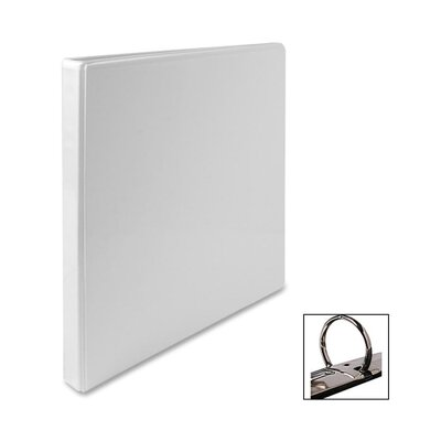 "Business Source Standard View Binder, 1/2""Capacity, 8-1/2""x11"", White"