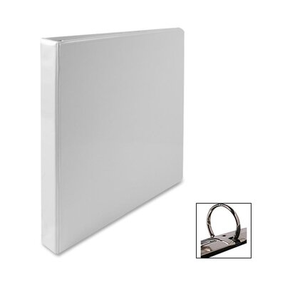 "Business Source Standard View Binder, 1""Capacity, 8-1/2""x11"", White"
