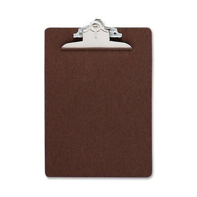 "Business Source ClipboaRed, w/ Standard Metal Clip, 6""x9"", Brown"