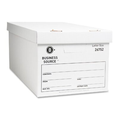 Storage Box, Lift Off Lid, Letter, 12