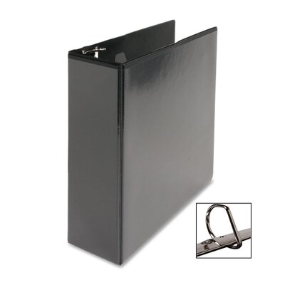 "Business Source D-Ring View Binder, 3"" Capacity, 11x8-1/2"", Black"